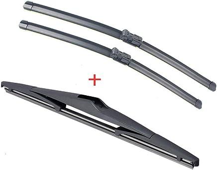 SLONGK Limpiaparabrisas Delantero Y Trasero, para Hyundai I30 2007-2011 Parabrisas De Goma Parabrisas