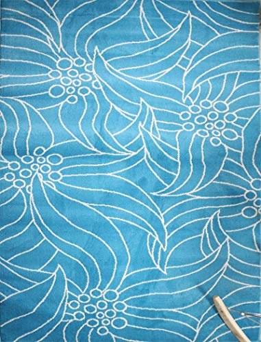 Feraghan/New City New Floral City Brand New Contemporary Modern Area Rug, 2' x 3', Green/White