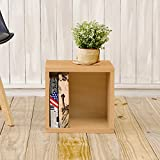 Way Basics Eco Stackable Storage Cube, Cubby Organizer (Tool-Free Assembly and Uniquely Crafted from Sustainable Non Toxic zBoard paperboard), Natural