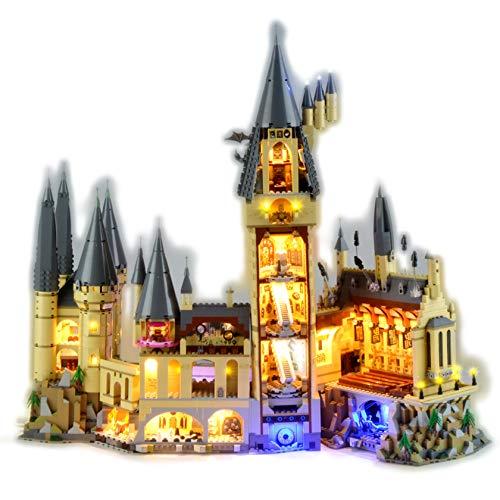 Gycdwjh Kit de iluminación Ambiental LED Compatible con Lego 71043 Hogwarts Castle, Serie Harry Potter (el Producto no Incluye Modelos de Bloques de construcción)