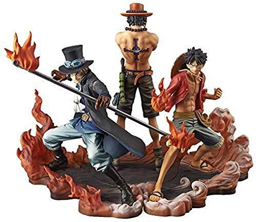 N / A Luffy Sabo Ace Figure 3pcs Set One Piece DXF Brotherhood II