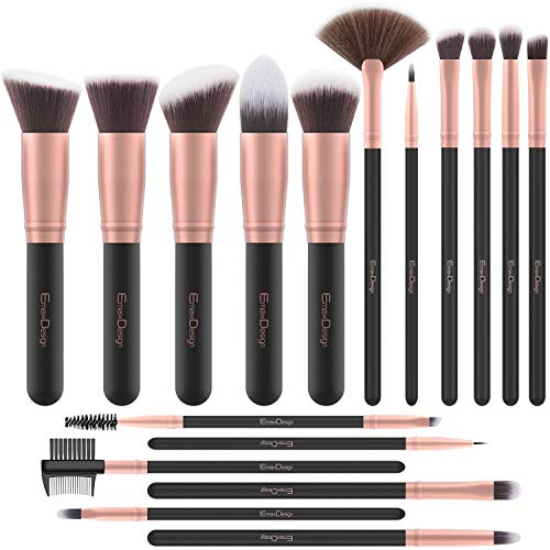 Pennelli Make Up EmaxDesign 17 pezzi Set di pennelli per trucco...