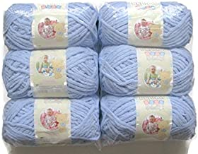 BERNAT Baby Blanket Yarn, 3.5oz, 6-PACK (Baby Blue 03202)