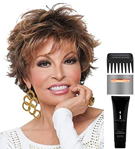 Bundle - 5 items: Voltage by Raquel Welch Wig, Christy's Wigs Q & A Booklet, Wig Shampoo, Wig Cap & Wide Tooth Comb - Color: R4