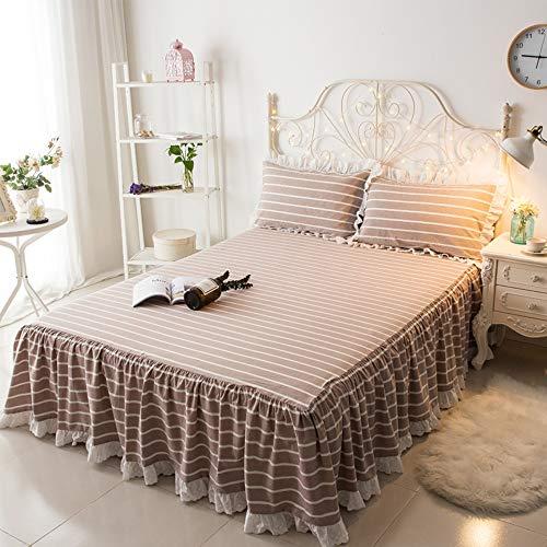 Alle Katoenen kant Ruffled Bed Rok Plaid Meisjes Bed Rok Zwart Wit Buffalo Checks Bed Set voor Meisjes Koreaanse Stijl Natuurlijke Katoen Prinses