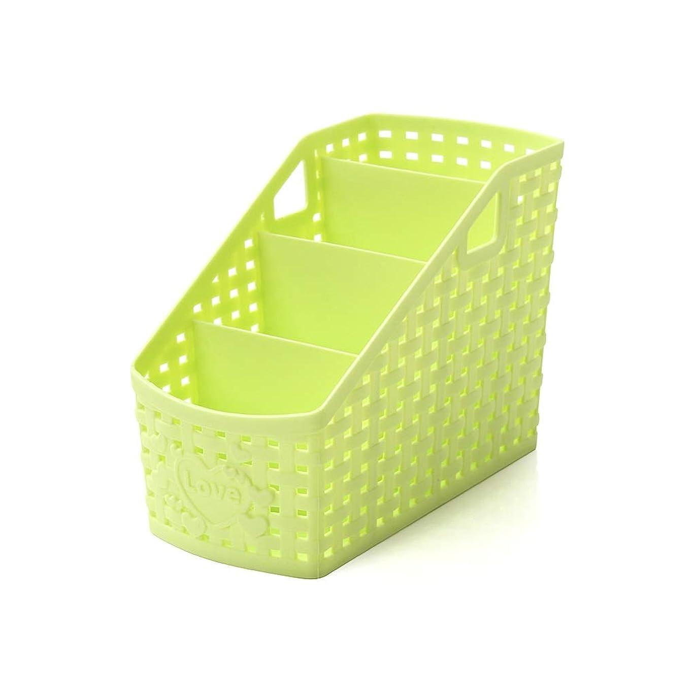 またね動く洞察力のあるLHT 化粧品収納ボックス事務机プラスチック大型文房具収納スキンケアドレッシングテーブル棚 収納ボックス (Color : A, Size : S)