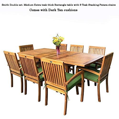 New 9pc Grade-A Teak Outdoor Dining Set-one Double Extension Table u0026 8  sc 1 st  Amazon.com & Teak Outdoor Furniture: Amazon.com