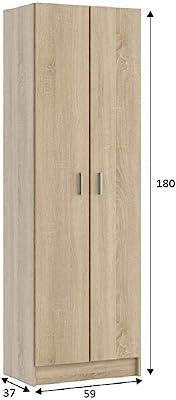 Salone Kit Armario 'Multiusos' CM.59X 37X 180h Roble 5estantes Ajustables