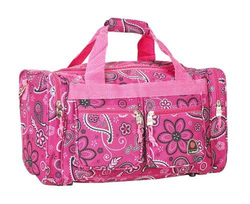 Rockland Duffel Bag, Pink Bandana, 19-Inch