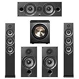 Elac Debut 2.0-5.1 System with 2 F6.2 Floorstanding Speakers, 1 C6.2 Center Speaker, 2 B6.2 Bookshelf Speakers 1 BIC/Acoustech Platinum Series PL-200 Subwoofer