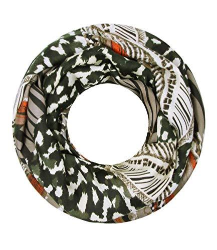 Majea Loop Schal Damen Schlauchschal - viele Farben - modischer Loopschal - Halstücher (grün 1)