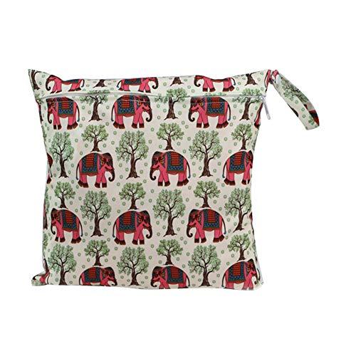 Wisilan Wiederverwendbare, wasserdichte Polyester-Stofftasche zum Aufhängen von Windeln oder kleinen Bestandteilen von Babys, Kinder, Erwachsene