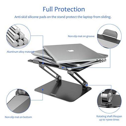 NILLKIN Soporte portátil, Ajustable Laptop Stand Aluminio Soporte ventilado para portátil para MacBook, Surface y Otras… 3