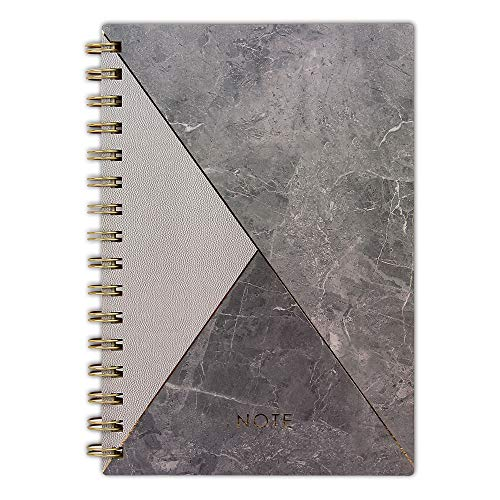 Grayboard Hardcover A5 Notebook,80 sheets Spiral Journal Notebook,6.1'x8.3' Double Wire-O (Grey)