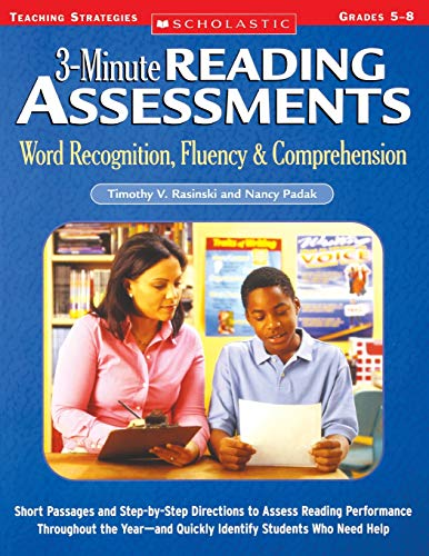 3-Minute Reading Assessments: Word Recognition, Fluency,...