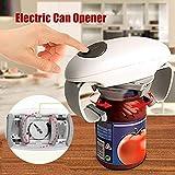AKQ Dosenöffner Elektrisch One Touch, Mini Automatischer Büchsenöffner Küchen Sicherheitsdosenöffner für Senioren, Glatter Weicher Rand