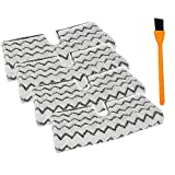 Replacement S6003UK Dirt Grip Cover Pads for Shark Steam Cleaner S6001UK S6003UK S3973D, S6002, S5003D, S5002, S3973WM Klik n Flip Pocket Mop , Household Microfiber Cleaning Mop Attachment(4 Packs)