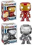 Funko POP! Captain America Civil War: Iron Man + War Machine - Vinyl Bobble-Head Toy Figure Set NEW...