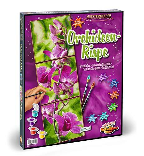 Schipper 609470739 - Malen nach Zahlen - Orchideenrispe - Bilder malen für Erwachsene, inklusive Pinsel und Acrylfarben, 120 x 40 cm