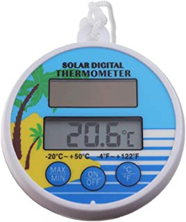 Solar Power Swimming Pool Thermometer Floating Max Min Water Temperature Thermometer for Hot Tub Jacuzzi Spa