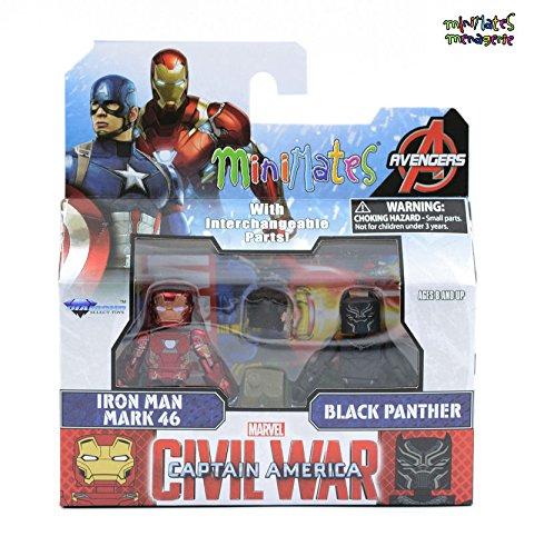 Marvel Minimates Series 66 Civil War Movie Mark 46 Iron Man & Black Panther ,#G14E6GE4R-GE 4-TEW6W206241