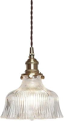 Pendel Leuchte Altmessing Hänge Beleuchtung Wohn Zimmer Glas Lüster Lampe amber