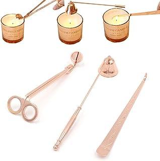 MingBin Ensemble d'accessoires pour Bougie,3 en 1 Kit d'accessoires pour Bougies, Coupe-mèche, kit de Soins de Bougies, po...