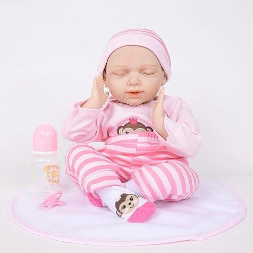 Hongge Reborn Baby Doll,Sieht echt aus Reborn Puppe Newborn Puppe Kinder Spielzeug Geschenk 50cm