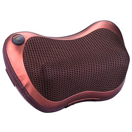 Masajeador de cojín masajeador para coche, casa, oficina, masaje muscular, cuello, espalda, lumbar, piernas y pies, alivia dolores cervicales