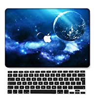 FULY-CASE プラスチックウルトラスリムライトハードシェルケース対応のある最新のMacBook Air 13インチRetinaディスプレイタッチIDUSキーボードカバー A1932 (星空 15)