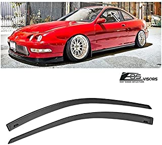 Extreme Online Store for 1994-2001 Acura Integra DC2 3Dr Hatchback   EOS Visors JDM Tape-On Style Smoke Tinted Side Vents Rain Guard Window Deflectors