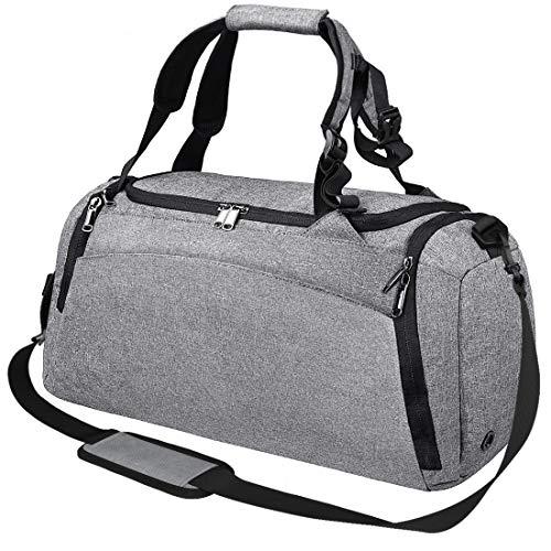 NEWHEY ボストンバッグ メンズ ダッフルバッグ レディース ジムバッグ リュック 防水 スポーツバッグ 旅行バッグ 40L グレー 3way