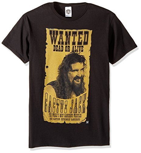 WWE Cactus Jack Wanted Dead Or Alive - Camiseta para hombre - Negro - Small