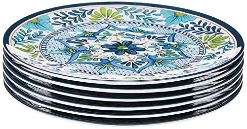 Certified International, Multicolor Talavera 11' Dinner Plate, Set of 6, 11 inch