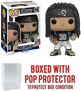 Pop NFL Todd Gurley LA Rams Blue Jersey Vinyl Figure (Bundled with Pop Shield Protector)