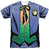 Batman Joker Uniform Unisex Adult Sublimated T Shirt for Men and Women, Large White