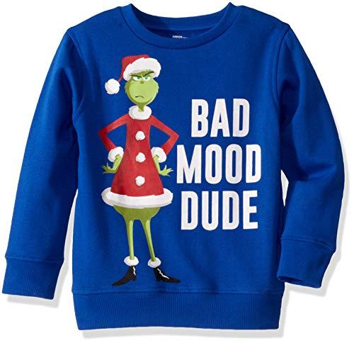 Universal Boys' Ugly Christmas Crew Sweatshirt, Mood/Royal, Small (6/7)