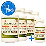 BodyHealth PerfectAmino (4+1 Pack) All 8 Essential Amino Acids Supplements with BCAAs, Increase Muscle Recovery, Boost...