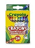 Crayola-24 Pastelli a Cera, Assortiti, per Scuola e Tempo Libero, Colore, 0024...