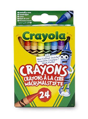 Crayola-24 Pastelli a Cera, Assortiti, per Scuola e Tempo Libero, Colore, 0024