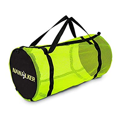 NAWALKER XL Mesh Dive Duffel Bag for Scuba or Snorkeling - Mesh Travel Duffle Tote for Scuba Diving and Snorkeling Gear Equipment - Dry Bag Holds Mask, Fins, Snorkel, Beach and More Holiday Choice