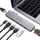 TOTU USB C Hub 8 in 2 USB Type C Adapter Docking Station, Triple Display for Mac OS, Compatible for MacBook Pro 2019-2016, MacBook Air 2019/2018 with Dual 4K HDMI, 87W PD, 3 USB 3.0, SD/TF Card Reader