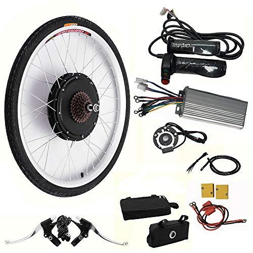 Kit de conversión de rueda trasera para bicicleta eléctrica de 26 pulgadas, 1000 W, 48 V