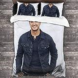 Lu-Ke Br-Ya-N Bedding Comforter Quilt Set Decorative 3 Piece Bedding Set with 2 Pillow Shams 86'x70'