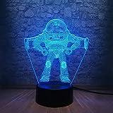 Nettes Spielzeug Geschichte Buzz Lightyear 3D Tischlampe Kinder Spielzeug Geschenk LED-Farbbeleuchtung Teen Zimmer Nachtlicht Home Decoration n's Day Geschenk Spielzeug
