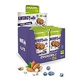 OVERSTIM.s -Energy Ball (12 Bolsas) - Arándanos Azules-Almendras- Tentempié Energético Para El Deporte - Bio - Vegano - Sin Gluten 48 g