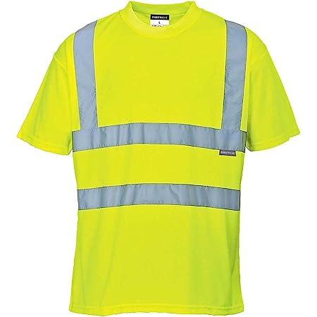 Portwest S478YERM Camiseta de Manga Corta, Hi-Vis , M, Amarillo (Yellow)