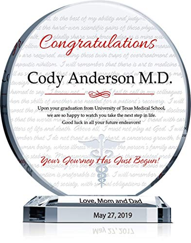Personalized Medical Graduation Crystal