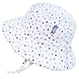 Jan & Jul Toddler Sun Hat for Girls, Adjustable Size, 50+ UPF, Breathable (S: 0-6 Months, Triangles)