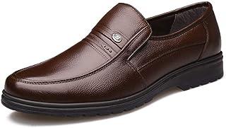 [AJGLJIYER LTD] ビジネスシューズ メンズ シューズ ラウンドトゥ プレーンヒール 紳士靴 レザー 合皮 メッシュ 通気 カジュアルシューズ スリッポン 滑り止め 軽量 コンフォート 通勤 パーティー